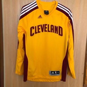 Adidas Cavaliers Yellow Warm Up Jersey